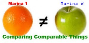 Comparable Marinas (apple and orange)
